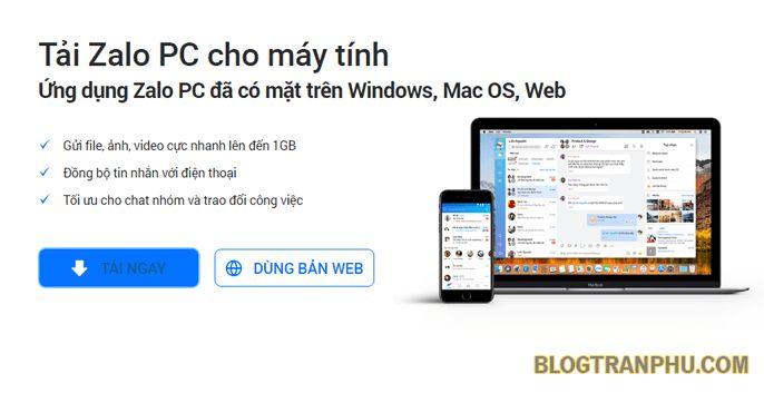 Download Zalo cho PC – Tải và cài đặt ứng dụng trên máy tính