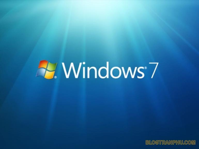 Giao diện hệ điều hành windows 7 huyền thoại