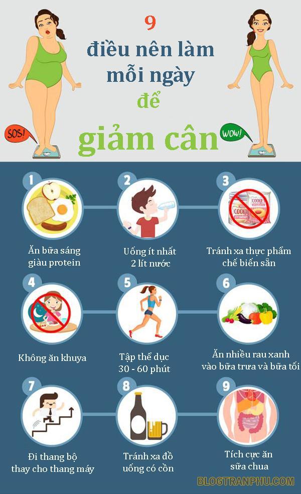 9 Điều nên làm mỗi ngày để giảm cân hiệu quả