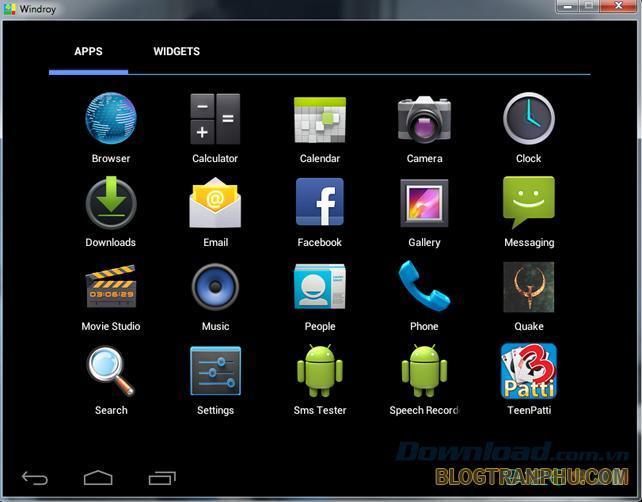 Phần mềm giả lập tốt cho Android Windroy