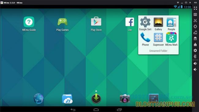 Phần mềm giả lập điện thoại MEmu App Player
