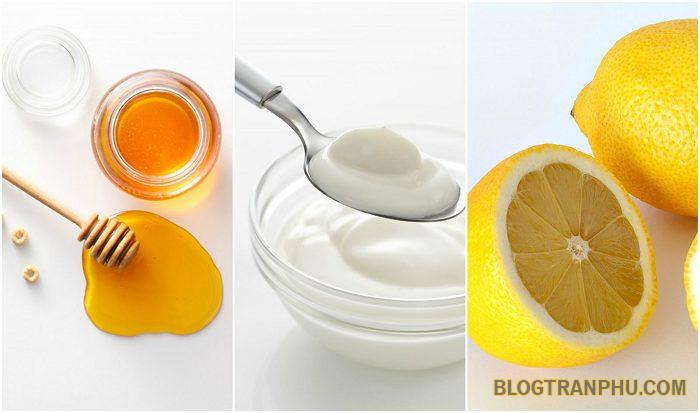 Mặt nạ chanh mật ong, sữa chua phục hồi làn da
