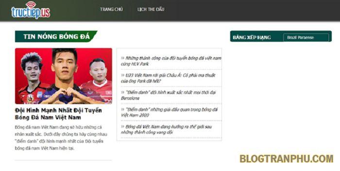 Tructiep.us - trang tin tức bóng đá hàng đầu không thể bỏ qua