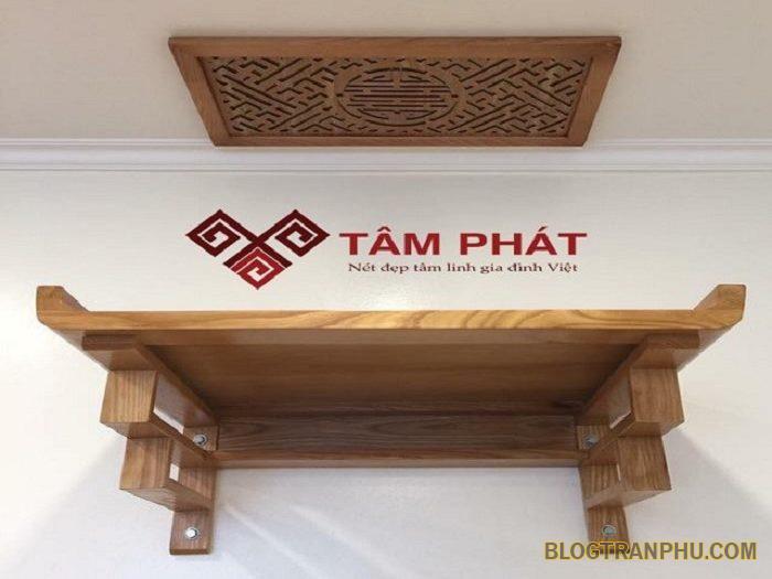 Bàn thờ treo tường Tâm Phát kiểu dáng đẹp