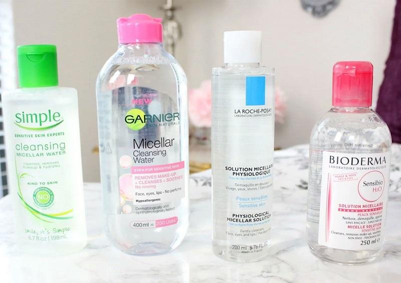 Một số loại tẩy trang dạng nước phổ biến nhất