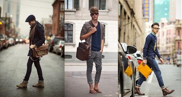 Tips chọn túi xách da nam phù hợp với dáng người
