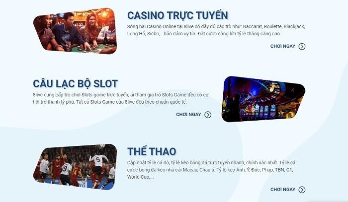 Nhà cái 8LIVE - Nhà cái trực tuyến chất lượng hàng đầu châu Á